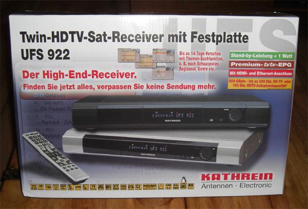 Kathrein UFS-922 HDTV Twin Receiver Testbericht Bild 1