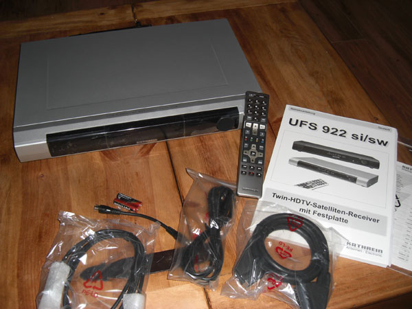 Verpackungsinhalt UFS-922