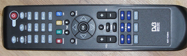 Die Fernbedienung des NanoXX 9500HD