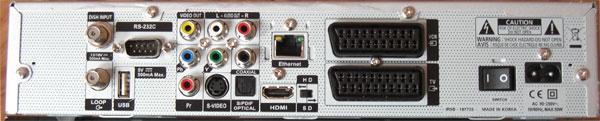 Anschlußvielfalt an der Rückseite des NanoXX 9500HD