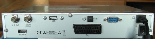 Die Rückseite zeigt die Anschlüsse des Smart MX92