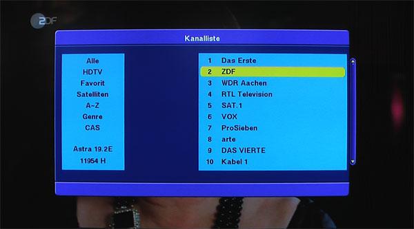 Die Programmtabelle des Smart MX92