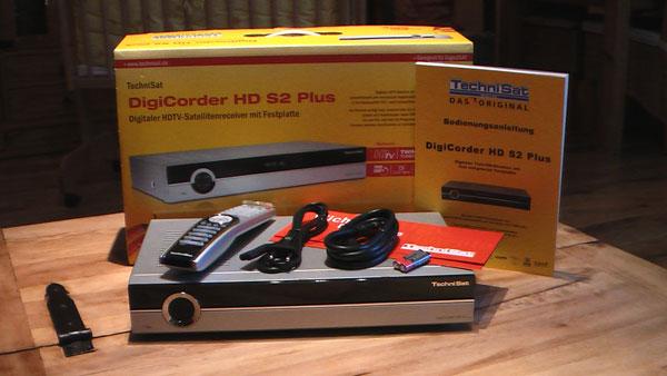Frisch eingetroffen, der TechniSat DigiCorder HD S2 Plus