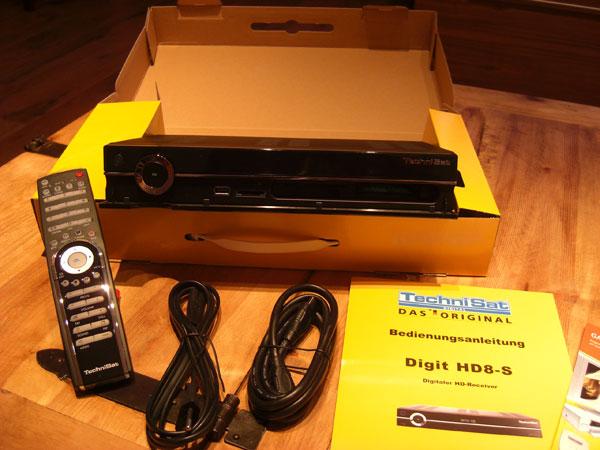 Technisat Digit HD8-S Packungsinhalt