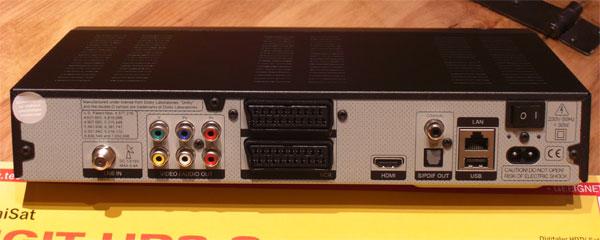 Die Rückseite des TechniSat Digit HD8-S