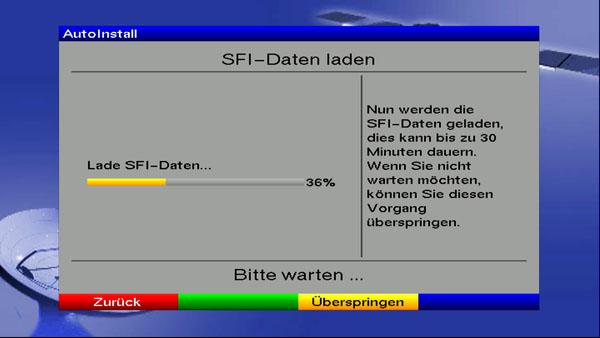 Laden der aktuellen Daten für den SFI Dienst