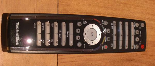 Die Fernbedienung des TechniSat Digit HD8+