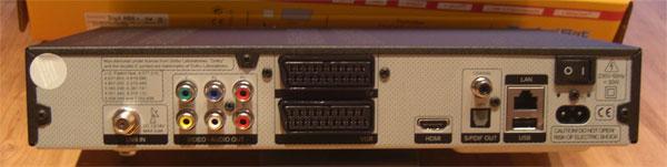 Reichhaltiges Angebot an Schnittstellen beim TechniSat Digit HD8+