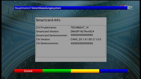 Informationen zur Eingesteckten HD+ Smartcard