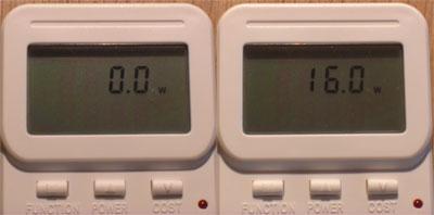 Stromverbrauch im Standby und im Betriebszustand beim Digit HD8+