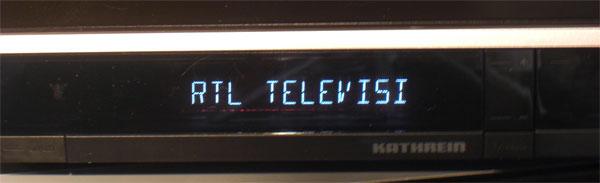 Grosses lesbares Display beim Kathrein UFS 903 HDTV