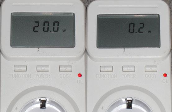 Der Kathrein UFS 923 verbraucht 20W in laufenden Betrieb
